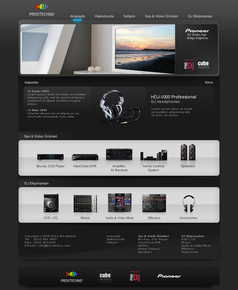 Proxtechno web site by gudubeth