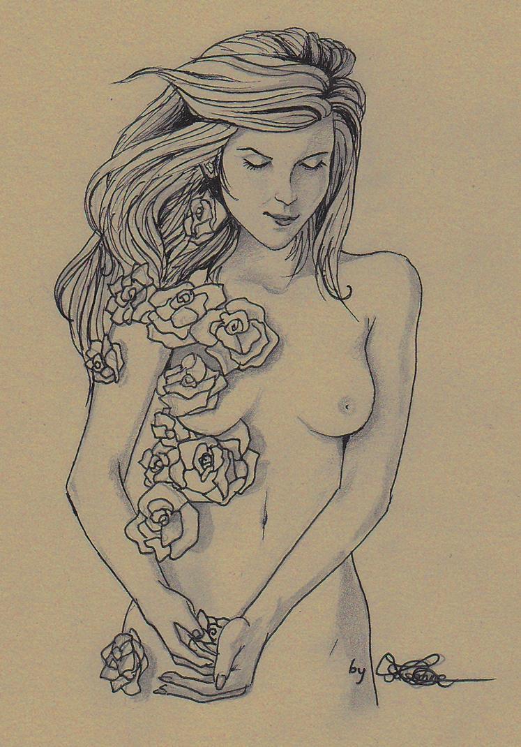Kleid aus Rosen by Hearthazard