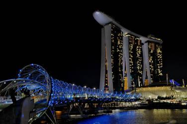 Helix Bridge, Marina Bay Sands by Timocool