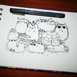 Doodles Pusheen by Lii07