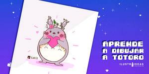 Aprende a dibujar a Totoro tutorial