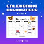 Calendario organizador 2019 Diciembre