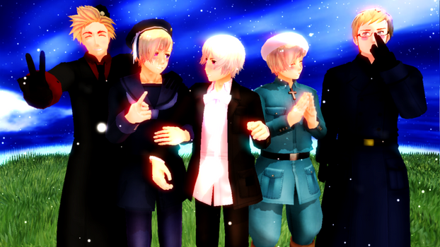 MMD Big Nordic Family by EmD-Neko-Chan