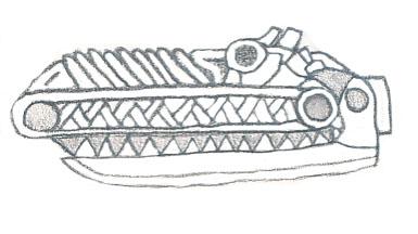 random aztec gator by lostsouls1