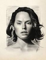 Daisy Ridley's sketch by WolfgangLeBlanc