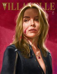Villanelle Painted Portrait by WolfgangLeBlanc