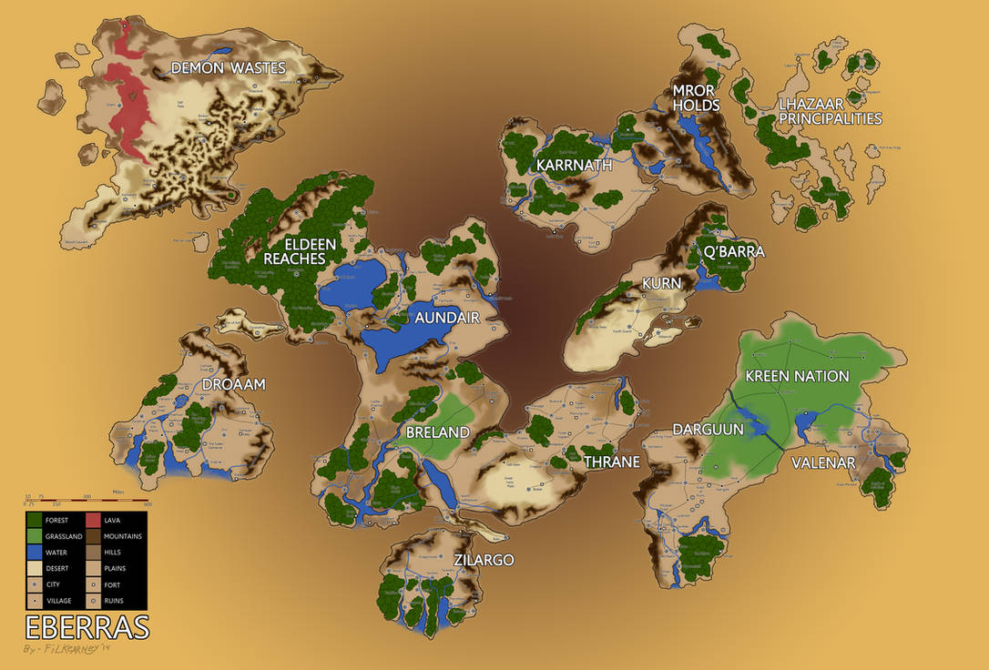 Eberras - Shattered Continent of Khorvaire by FilKearney