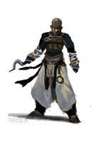 Pathfinder - Sajan the Monk Study by FilKearney