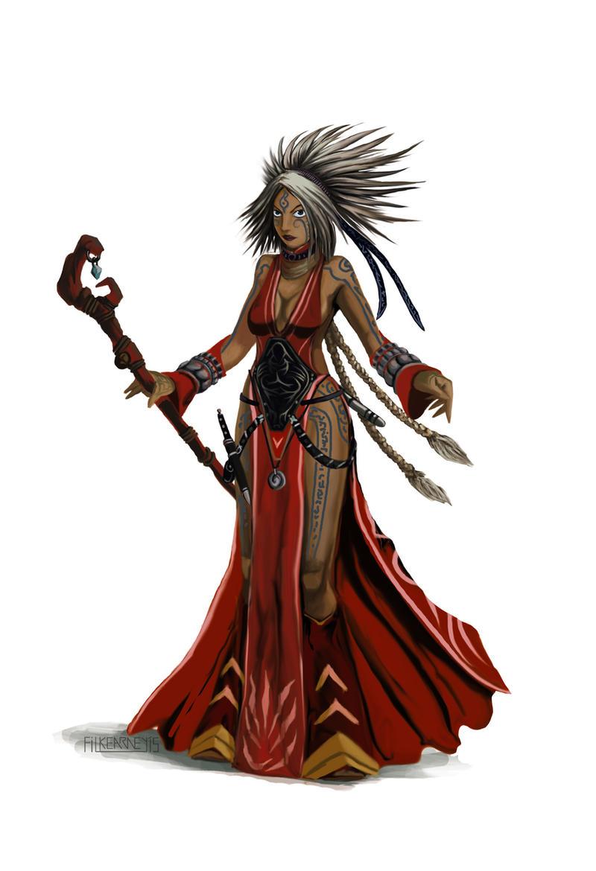 Pathfinder - Seoni The Sorcerer study by FilKearney on
