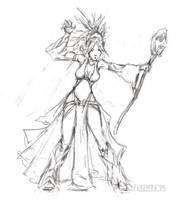 Seoni Sketch by FilKearney
