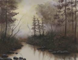 Misty Creek by FilKearney