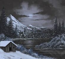 Winter Moon by FilKearney