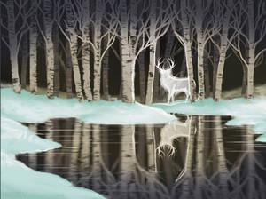 s26e07 Snow Birch - Stag Patronus by FilKearney