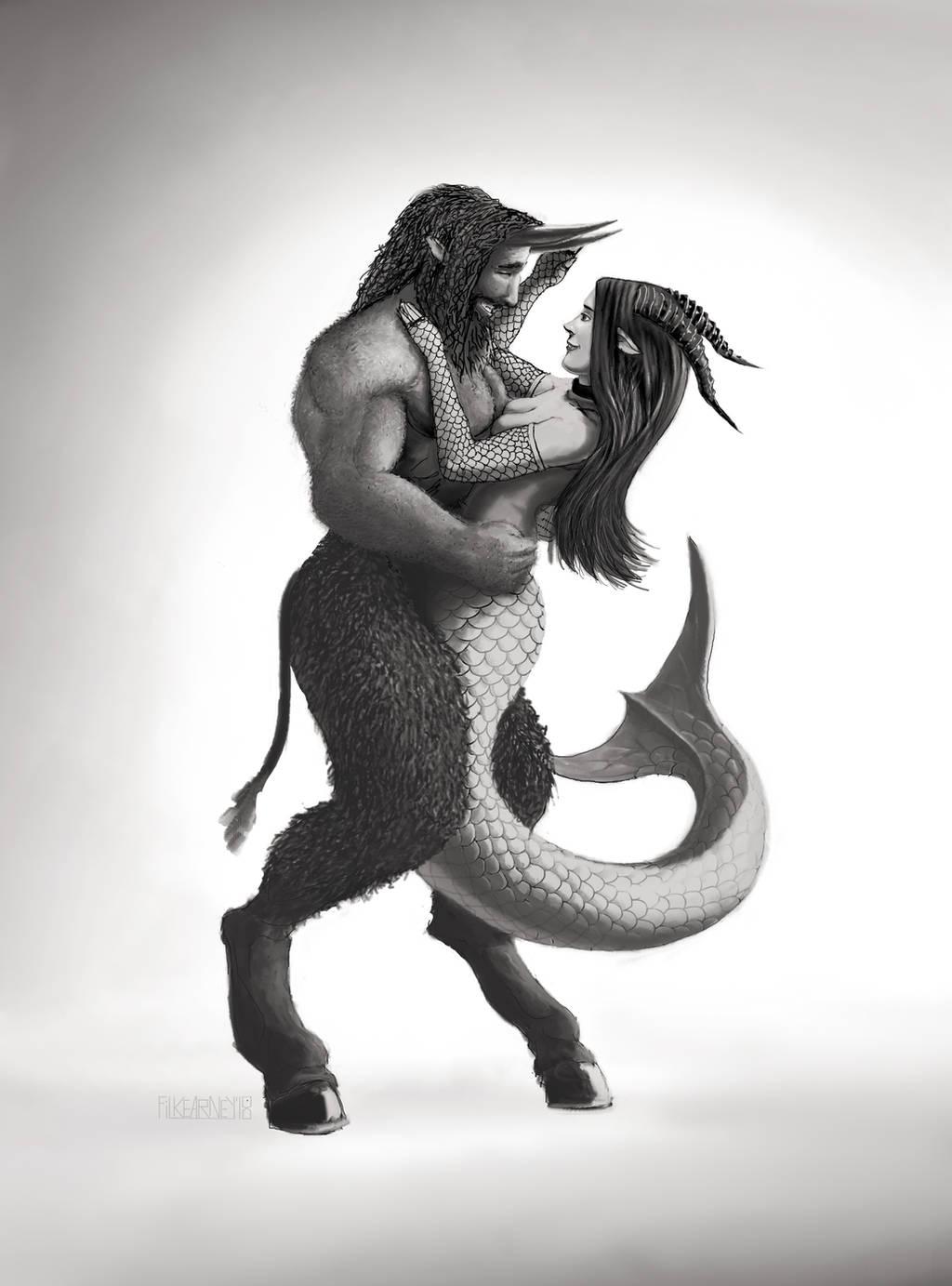 Zodiac - Capricorn and Taurus by FilKearney