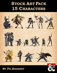 Stock Art Pack 15 Characters Cover Image by FilKearney
