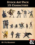 Stock Art Pack 15 Characters Cover Image