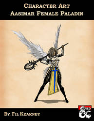 Character Art - Aasimar Female Paladin by FilKearney