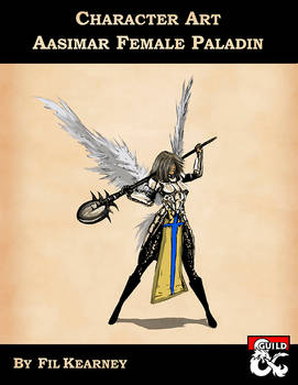Character Art - Aasimar Female Paladin