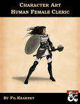 Character Art - Human Female Cleric - Cover by FilKearney
