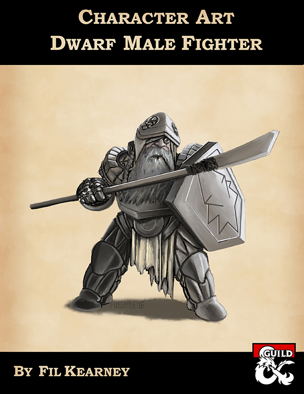 Character Art Dwarf Male Fighter Dungeon Masters Guild Dungeon