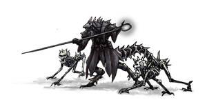 necromancer Dragonborn with pets