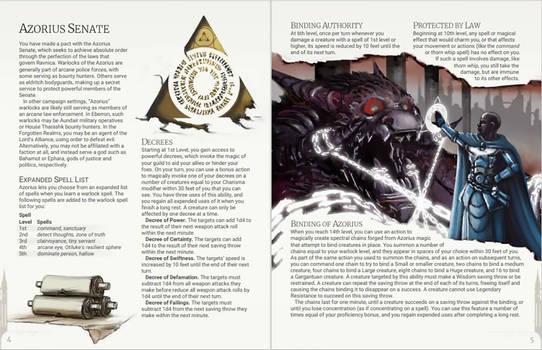 Azorius Senate - Warlock Patron