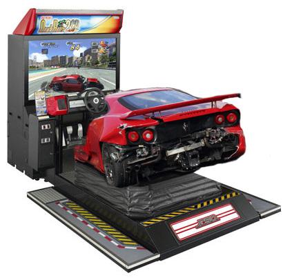 Smashed Ferrari Outrun Arcade Cabinet by blackrock3 on DeviantArt