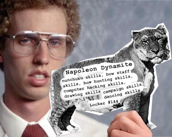 Business Card For Napoleon Dynamite By Blackrock3 On Deviantart
