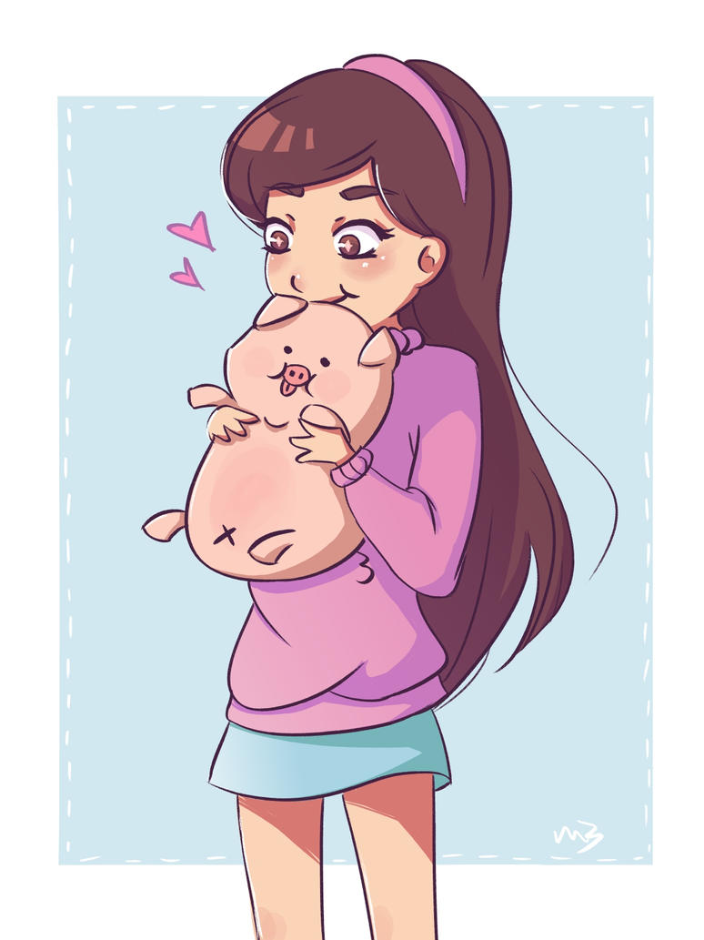 Mabel and Waddles by Sluierstaartje