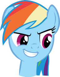 Rainbow Dash Smirk by Stardust-R3x