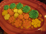 My first sugar cookies (pink tray)