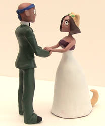 Custom Wedding Cake Topper by SpaceCowSmith