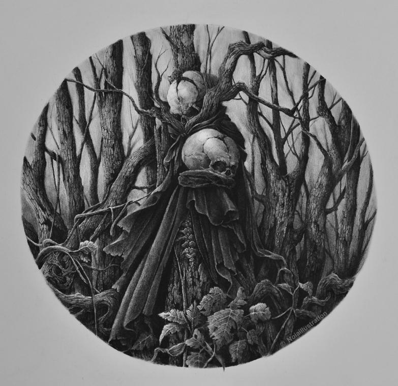 Circulos do inicio - floresta by noiaillustration