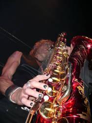 Michael Monroe Playing Sax