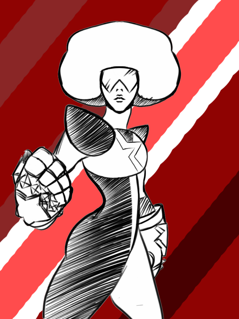 My favorite gem looking badass even in my crappy style   Garnet And Steven Universe Belongs to Rebecca Sugar