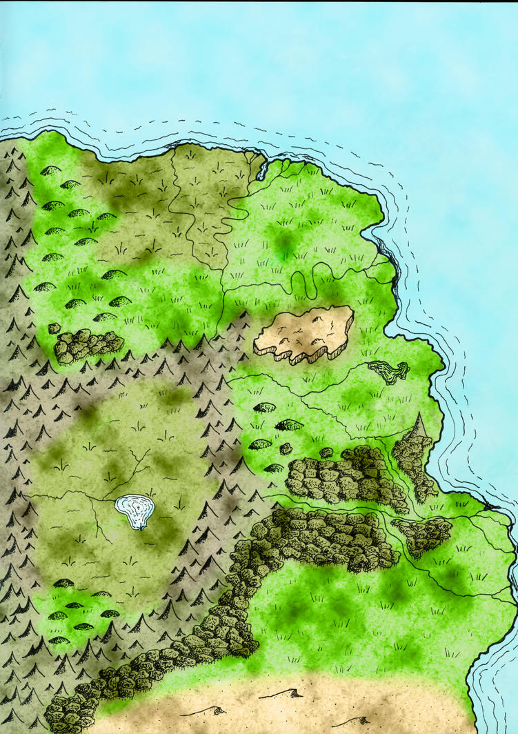 Classic Fantasy Map by Anarisis