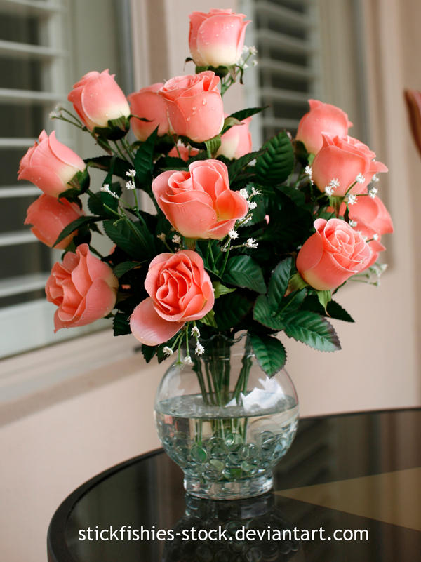 Vase Of Roses 1 By Stickfishies Stock On Deviantart
