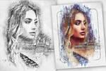 Pen Watercolor Photoshop Action