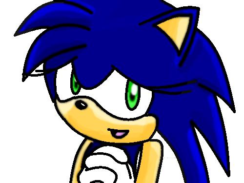 Sonica looks cute! by MephistaTheDark