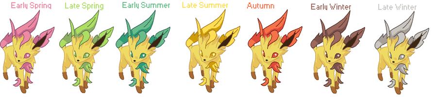 Leaf's forms - Shiny Season Leafeon by MephistaTheDark on ...