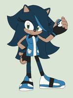 Sapphire Izumi The Hedgehog - Aqua Daughter by MephistaTheDark