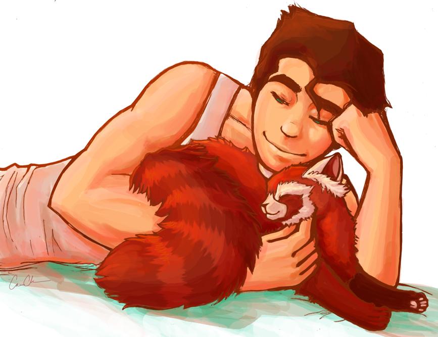 LoK: bobu cuddles forever by lorncache