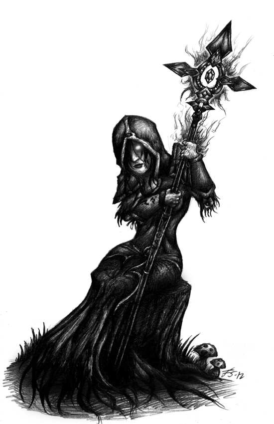Undead Shadow Priest Art Nadii from hand of agony by