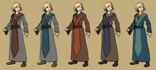 Mage Robe - Color Selector by SteelFeathers
