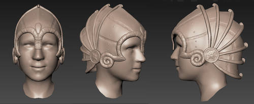 Yoku Guard Helmet - WIP by SteelFeathers