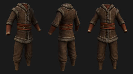 Colovian Fur Clothing by SteelFeathers