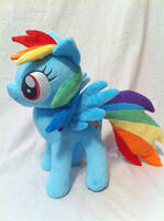 Rainbow Dash jointed plush by PlanetPlush