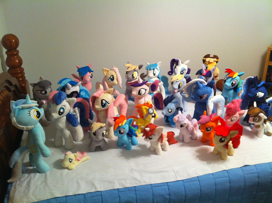 All the ponies! by PlanetPlush