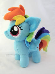 Rainbow Dash filly by PlanetPlush