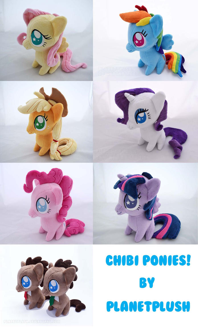 Chibi Ponies! FOR SALE! by PlanetPlush